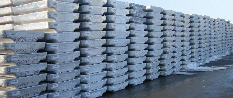 Aluminiium ingot with heatproof barcode labels