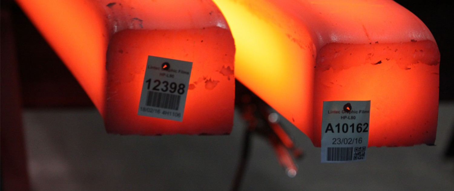 Heatproof tag at 1000°C extreme heat resistant label